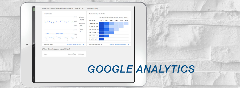 Google Analytics auf der Website einsetzen