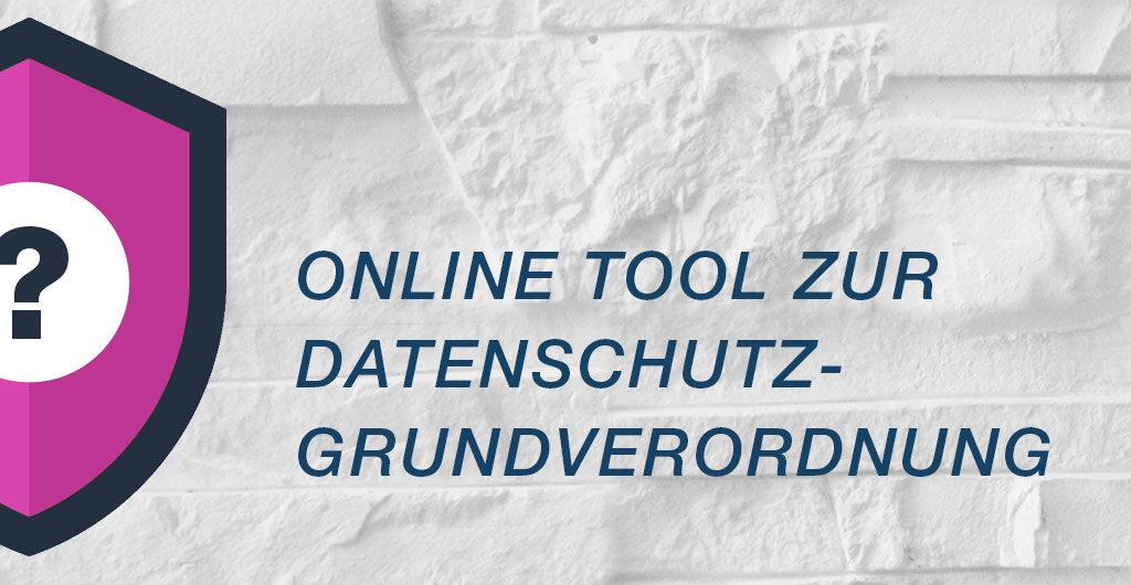 Online Tool zur Datenschutzgrundverordnung