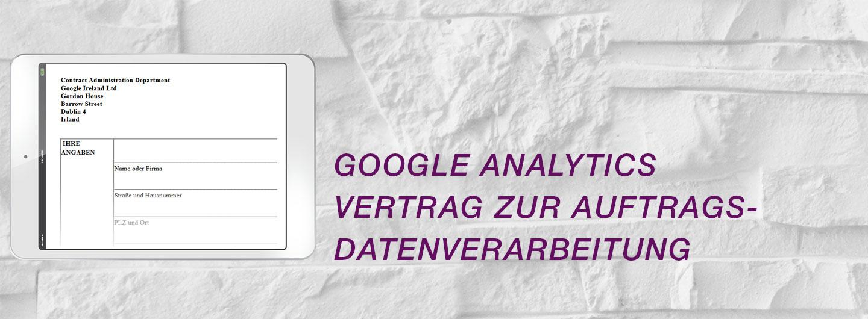 Google Analytics Vertrag Zur Auftragsdatenverarbeitung Abschließen