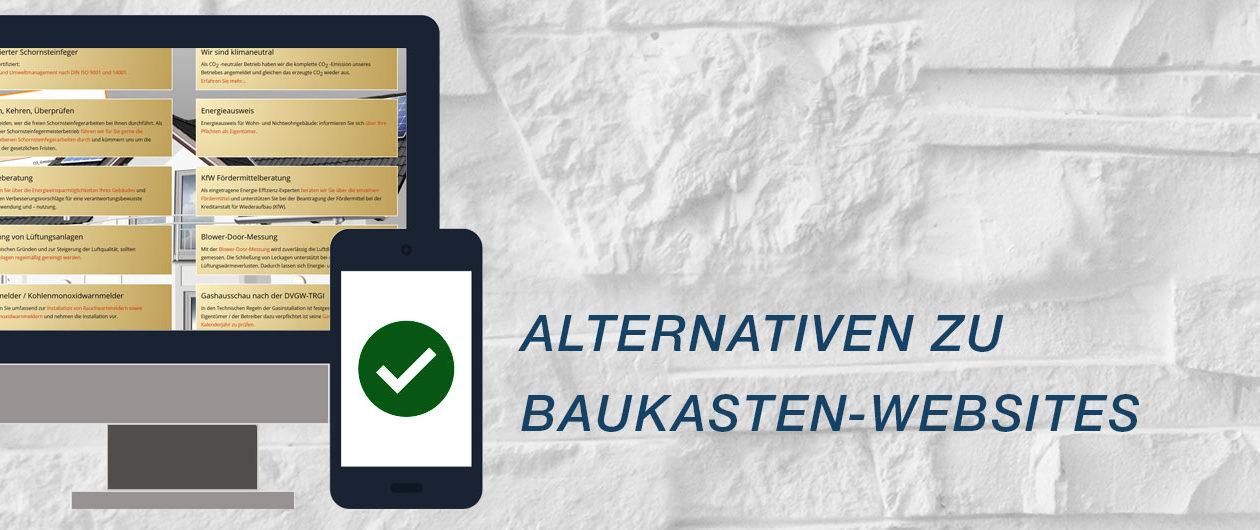 Alternativen zu Hottgenroth, 1&1 und co. - Schornsteinfeger Websites