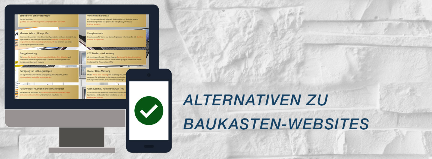 Alternativen zu Hottgenroth, 1&1 und co. - Schornsteinfeger Websites
