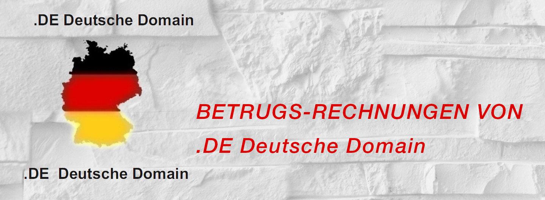 Betrugsrechnungen von .DE Deutsche Domain